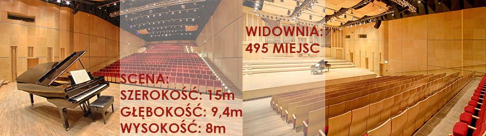 Sala koncertowa Filharmonii Opolskiej